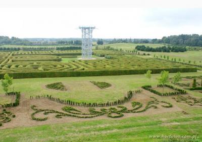 Ogrody Hortulus - Wieża widokowa i Labirynt