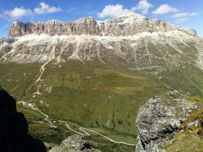 Przełęcz Pordoi Pass - Dolomity