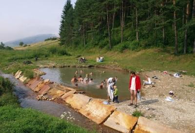 Termalne jeziorko - Kalameny, Słowacja