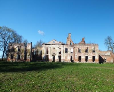 Ruiny pałacu w Gładyszach