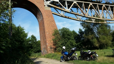 Odwrócony most kolejowy Chrzypsko Małe