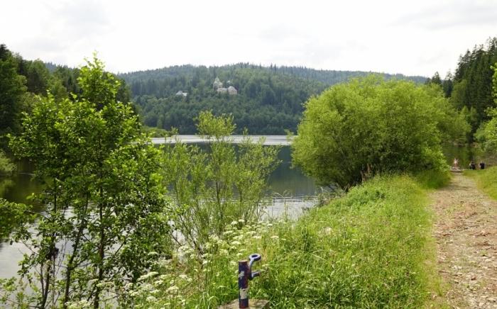 Biała Wisełka - Kaskady i ujście do jeziora